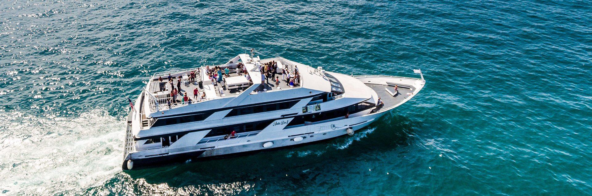 Anita Dee Yacht cruising along